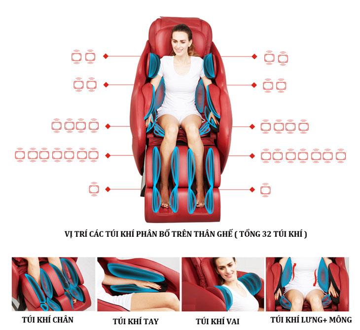 ghế massage toàn thân cải thiện sức khỏe mỗi ngày