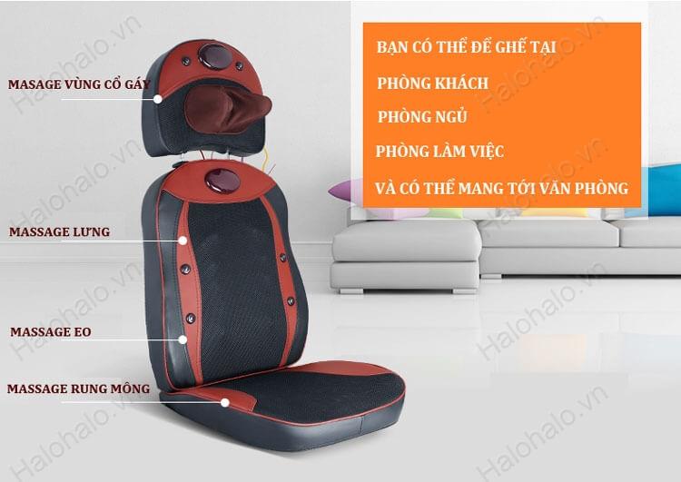 Mỗi loại ghế mát xa phù hợp với một dòng xe khác nhau
